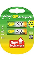 Godrej GP AA 2700 NiMH Rechargeable Battery (Pack of 2)