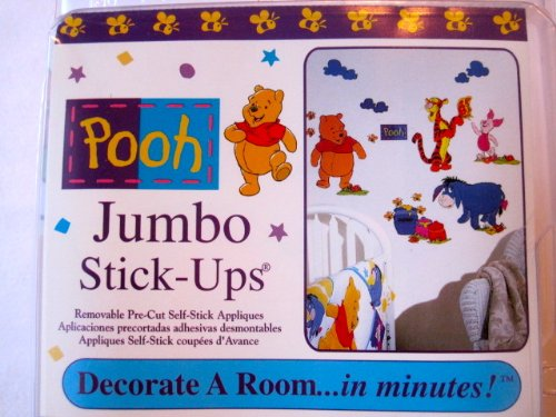 Pooh Jumbo Stick-Ups (45 pieces) - 1