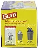 Glad 70403 Force Flex Medium Garbage Bag 8 Gallon 26 Count