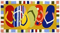 Multi-Colored Sandals FlipFlops JellyBean Accent Rug (22\
