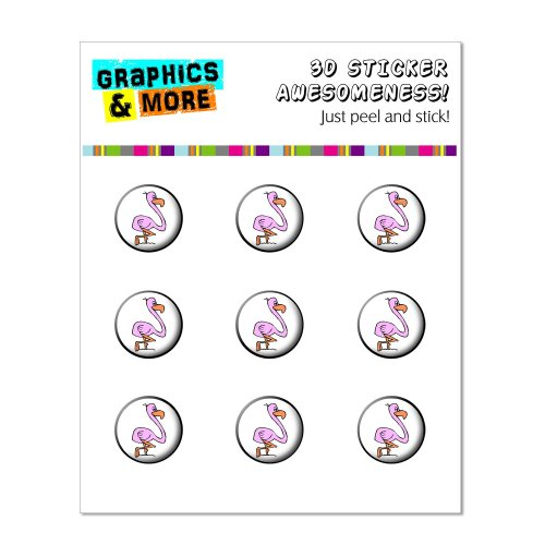 Graphics and More Pink Flamingo Home Button Stickers Fits Apple iPhone 4/4S/5/5C/5S, iPad, iPod Touch - Non-Retail Packaging - Clear