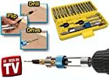 Quick Flip Half Time Drill Driver 20 Piece DIY Bit Tool Screwdriver Set Case