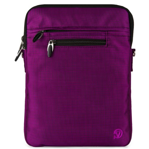 VG Hydei Edition Purple Nylon Protective Carrying Bag with Removable Shoulder Strap for Motorola Droid Xyboard / Motorola Xyboard / Motorola Xoom Familiy Edition / Motorola Xoom 10.1 inch Tablets