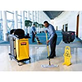 Rubbermaid Commercial FG9T7200BLA Service Cart with Two Caddies Black