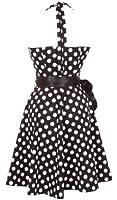 Vintage Polka Dot Halterneck Retro Pin cocktail dresses 50's 60's rockabilly pin-up sweetheart Audrey Hepburn swing skater short ladies womens prom
