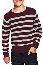 Pure Lambswool Striped Jumper [T87-3910X-S]