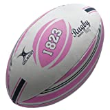 Gilbert Men's Random Rugby Ball - Pink, Size 5
