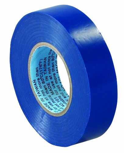 "Aviditi T96461810Pkk Electrical Tape, 20 Yds Length X 3/4"" Width, Blue (Case Of 10)"