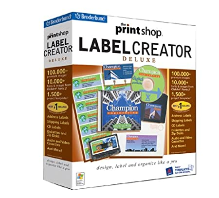 The Print Shop Label Creator Deluxe