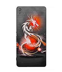 Case Cover Dragon Printed Black Hard Back Cover For Sony Xperia XA Ultra Dual