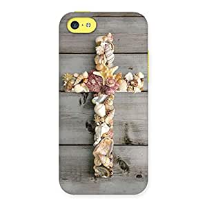 Enticing Devine Sea Cross Back Case Cover for iPhone 5C