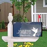 Philippians 4:13 - Religious Design #5 - Magnetic Mailbox Cover