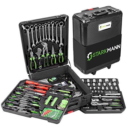 STARKMANN-Blackline-399-tlg-Werkzeugkoffer-Steckschlssel-Satz-Knarrenkasten-Nukasten-Steckschlssel-mit-Ratschenfunktion-Handgriffe-mit-Soft-Touch