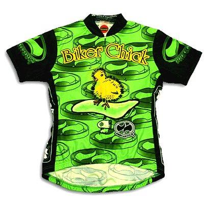 Buy Low Price Biker Chick 2.0 Women's Cycling Jersey – Lime (B000IDB774)