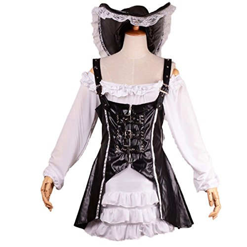 Punk Pirate Costume Women Adult Party Halloween Cosplay Party Dress