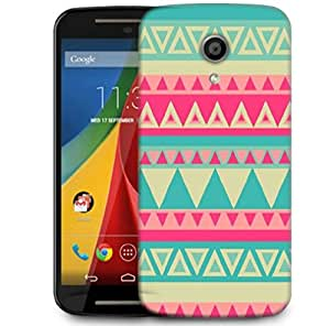 Snoogg Aztec Pink Designer Protective Phone Back Case Cover For Motorola G 2nd Genration / Moto G 2nd Gen