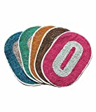 Christy's Set of 5 Colorful cotton door Mat