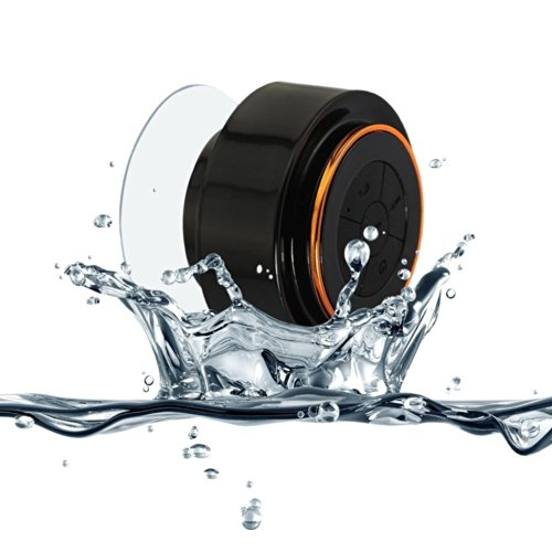 Bestope Mini Ultra Portable Waterproof Bluetooth Wireless Stereo Speakers With Suction Cup For All Devices With Bluetooth Capability,Use As A Powerful Handsfree Speakerphone With All Bluetooth Devices (Orange)