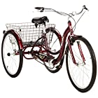 Single Speed 26 Schwinn Meridian Adult Tricycle with Adjustable Seat and Handlebars