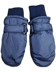 Winter Warm-Up - Little Boys Ski Mittens, Navy 33065-onesize