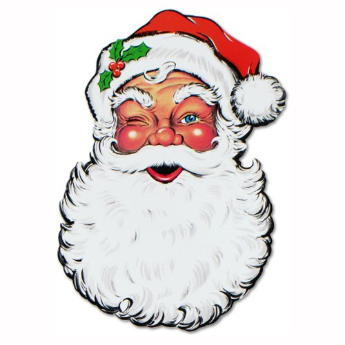 Beistle 1-Pack Display Santa Face Cutout, 26-Inch - 1
