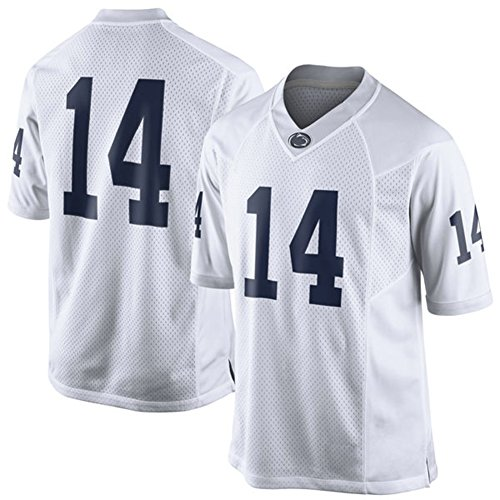 NCAA Mens Penn State Nittany Lions White #14 Limited College Football Jersey XL (Miami College Football Jersey compare prices)