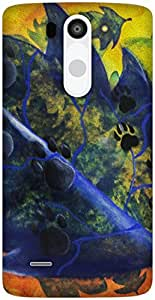 The Racoon Lean For Dog Lovers hard plastic printed back case / cover for LG G3 Beat