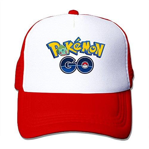 ひまわり ポケモン ロゴ カートゥーン 人気 ランニング ファッション 野球キャップ メッシュ ユニセックスレッド