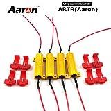 4Pcs Aaron 50W 6ohm Load Resistors - Fix LED Bulb Fast Hyper Flash Turn Signal Blink Error Code