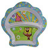 Spongebob Shell Shaped Divided Plate Non-Skid Ring by ZAK!