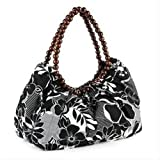 Black & White Floral Fabric Bag AJ23909