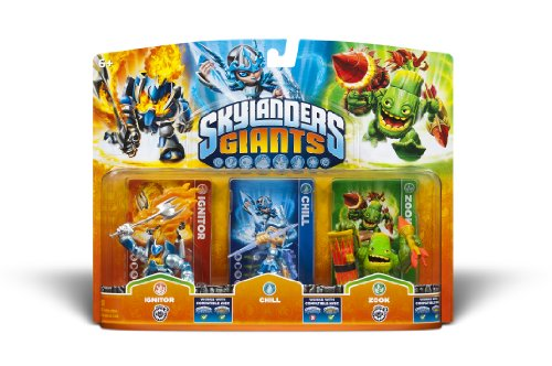 Skylanders Giants - Triple Pack #2 (Chill - Zook - Ignitor - Universal)