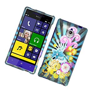 Eagle Cell Glossy Protective Case for HTC 8XT - Retail Packaging - Colorful Fireworks
