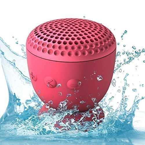 Whitelabel Drop Hi-Fi senza fili Altoparlante Bluetooth 4.0 - Potente Altoparlante Portatile Senza fili -design resistente all'acqua unica con ventosa - Compatibile con iPhone 4/4s/5/5c/5s iPad Galaxy S4/S3 Nota3 / 2 HTC telefoni o altri dispositivi abilitati Bluetooth (Drop Rosa)