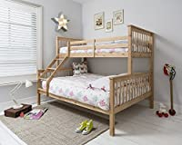 PINE Wooden Triple Bed Single over Double Bed , PINE Triple Sleeper
