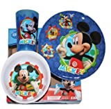 Mickey Mouse Clubhouse Mealtime 3 Piece Set with Forks & Spoons
