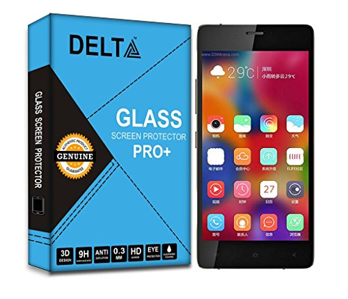 Gionee Elife S5.1 Sreen Protector,Delta Premium Pro+ Tempered Glass,Shatter Proof Screen Protector for Gionee Elife S5.1 with Cleaning Kit [2.5D round Edges,0.3mm,9H hardness]  available at amazon for Rs.185