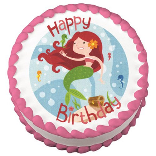 Lucks Edible Image Mermaid Birthday, 1-Each