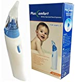 Baby Electronic Nasal Aspirator, Battery Operated Nose Cleaner for Babies and Toddlers, Silicone Tips (2 sizes)