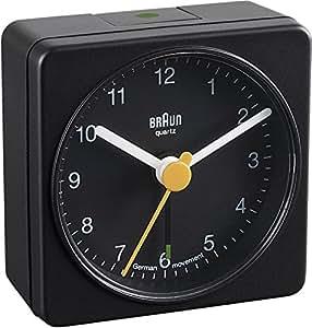 Braun BNC002 BKBK Quarzgesteuerte Batterie-Weckuhr, schwarz