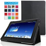 MoKo ASUS MeMO Pad FHD 10 ME302C Case - Slim Folding Cover Case for ASUS MeMO Pad FHD 10-Inch ME302 ME302C Tablet, BLACK (with Smart Cover Auto Wake / Sleep Feature)