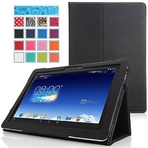 MoKo ASUS MeMO Pad FHD 10 ME302C Case - Slim Folding Cover Case for ASUS MeMO Pad FHD 10-Inch ME302 ME302C Tablet, BLACK (with Smart Cover Auto Wake / Sleep Feature)