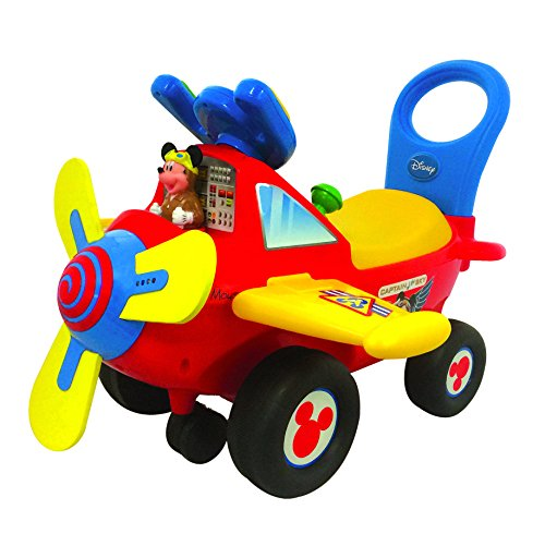 Kiddieland-Disney-Mickey-Mouse-Clubhouse-Plane-Light-Sound-Activity-Ride-On