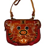 Genuine Leather Shoulder Bag, Tiger Pattern, a Unique and Collectible Satchel