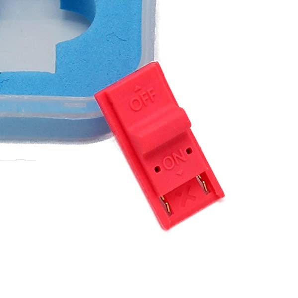 Coolayoung RCM Joy-Con Jig, RCM Clip Short Connector Plastic RCM (Recovery Mode) Clip NS SX PRO OS Crack Tools for Nintendo Switch Archive Modification (Color: Red, Tamaño: 1.4x1.4x0.7inch/3.5x3.5x1.8cm)