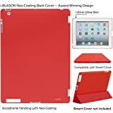 i-BLASON Back Cover Case for 2012 New iPad 3rd Gen Ultra-Slim 1.2mm Smart Cover Compatible (Latest Third Generation iPad 3 HD back cover only)(Red) ~ i-Blason