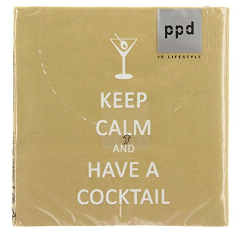 Paperproducts Design 20-Pack Keep Calm Cocktail Paper Cocktail Napkins
