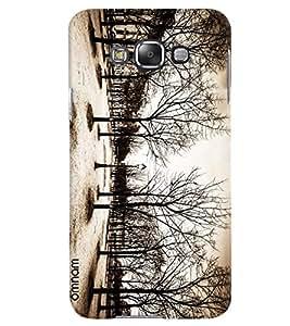 Omnam Disaster Of Nature Effect Printed Designer Back Case Samsung Galaxy E7