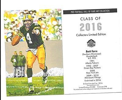 2016 Brett Favre Goal Line Art Card Green Bay Packers
