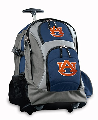 Auburn Rolling Backpack Deluxe Navy Auburn Tigers Backpacks Bags With Wheels Or
